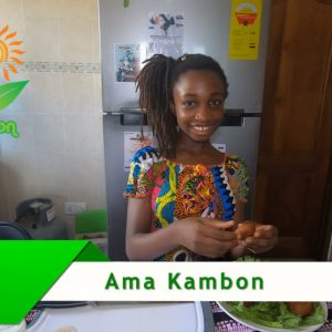 Ama Kambons delicious special fried bean fritters: Koose!